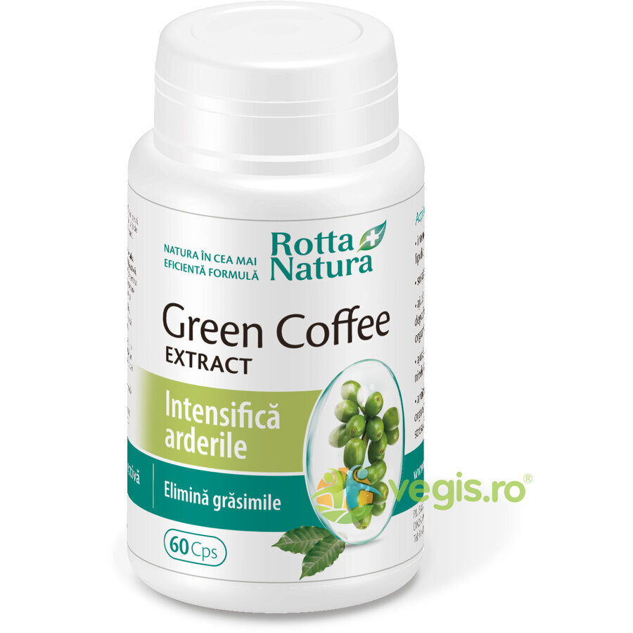 ROTTA NATURA Green Cofee (Cafea Verde) 400mg 60cps