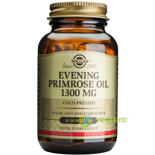 Evening Primrose Oil 1300mg 30cps (Ulei de luminita noptii) SOLGAR