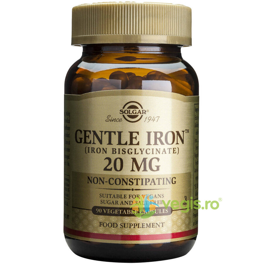 SOLGAR Gentle Iron 20mg 90cps (Fier)