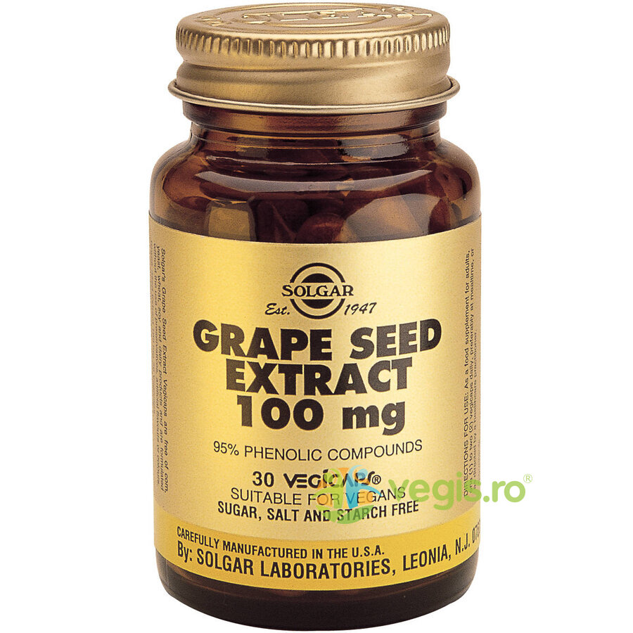 SOLGAR Grape Seed Extract 100mg 30cps(Seminte de struguri)