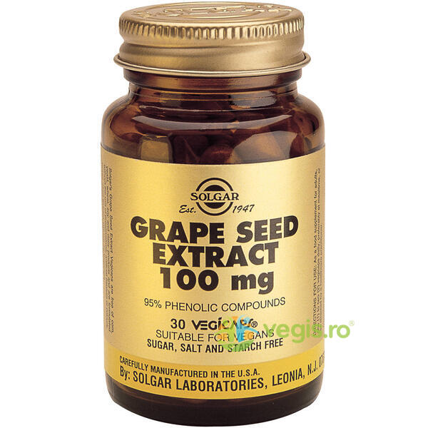 Grape Seed Extract 100mg 30cps(Seminte de struguri) SOLGAR