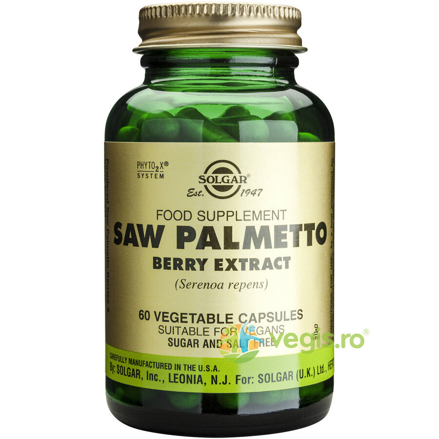 SOLGAR Saw Palmetto Berry Extract 60cps (Palmier pitic) –
