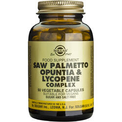 Saw Palmetto Opuntia Lycopene Complex 50cps (Pamier Pitic, Opuntia ,Licopen) SOLGAR