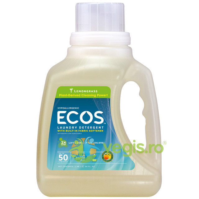 EARTH FRIENDLY PRODUCTS Detergent Bio Lichid Superconcentrat Pentru Rufe Lemongrass 1.478l