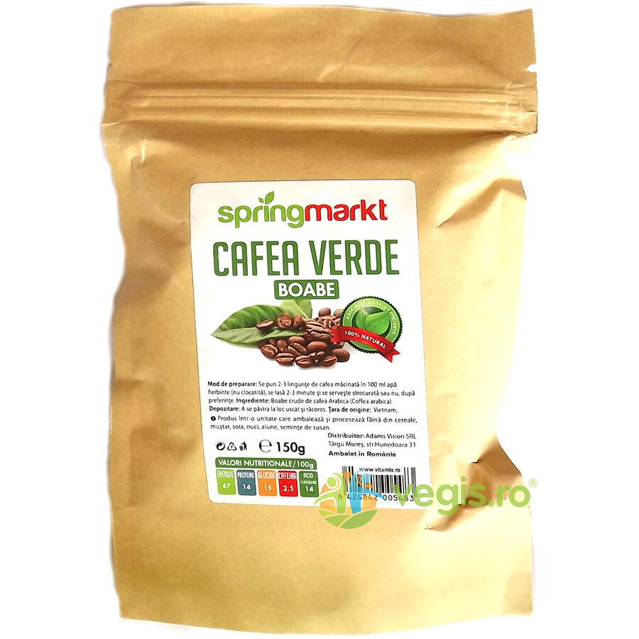 Cafea Verde Boabe 150gr ADAMS VISION