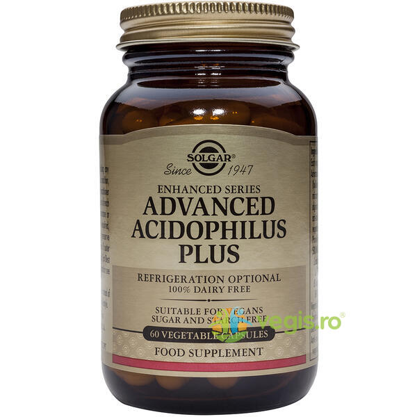 Advanced Acidophilus Plus(Probiotice) 60cps Vegetale SOLGAR