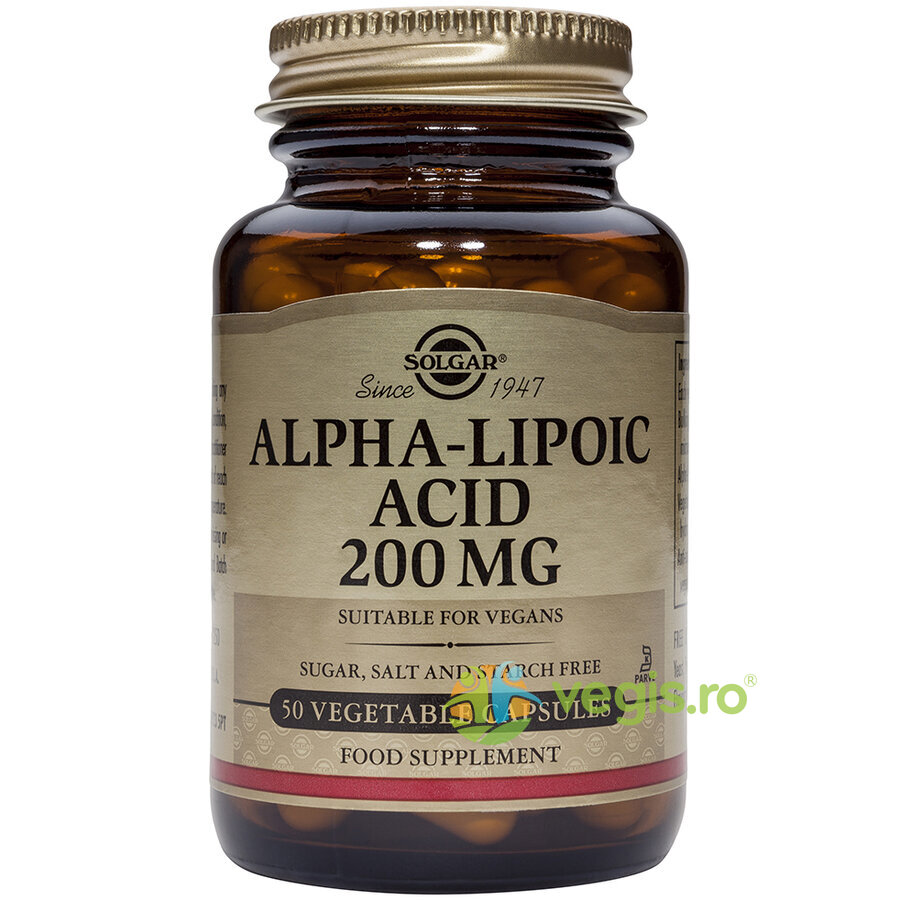 SOLGAR Alpha Lipoic Acid 200mg 50cps Vegetale