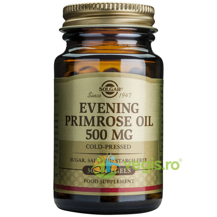 SOLGAR Evening Primrose Oil 500mg 30cps (Ulei de luminita noptii)