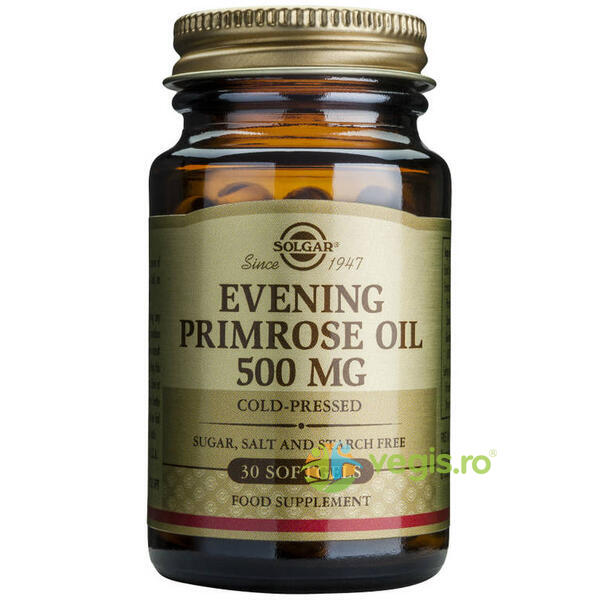 Evening Primrose Oil 500mg 30cps (Ulei de luminita noptii) SOLGAR