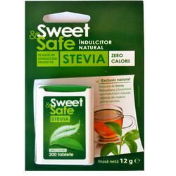 Indulcitor Natural Stevie 200 tablete Sweet&Safe SLY NUTRITIA