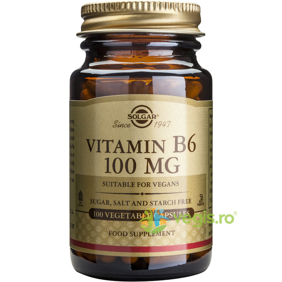 Vitamina B6 100mg 100cps Vegetale – SOLGAR