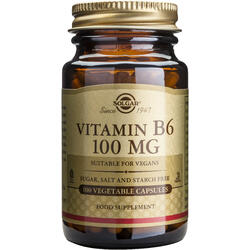 Vitamina B6 100mg 100cps Vegetale SOLGAR