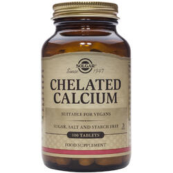 Chelated Calcium 100tb (Calciu Chelat) SOLGAR