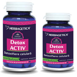 Pachet Detox Activ 60cps+10cps Promo HERBAGETICA