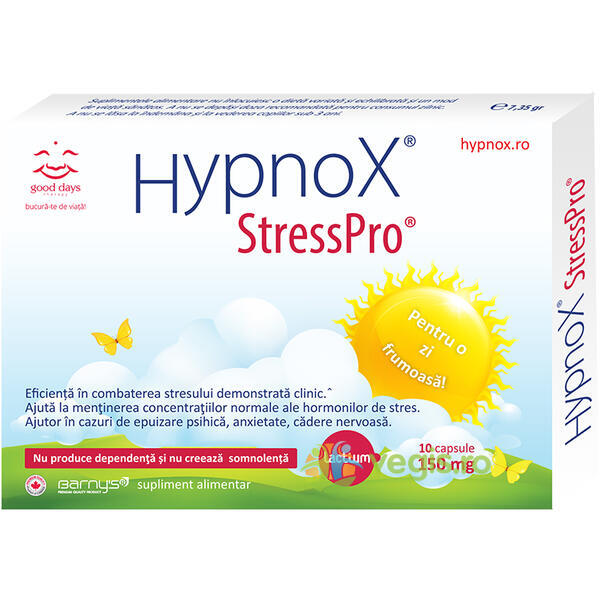 Barnys Hypnox Stresspro 30cps GOOD DAYS THERAPY