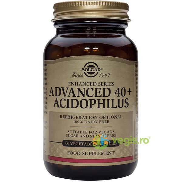 Advanced 40+ Acidophilus 60cps Vegetale SOLGAR