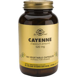 Cayenne 520mg 100cps Vegetale (Ardei Iute)