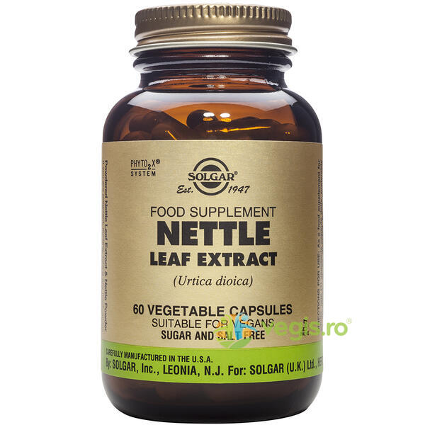 Nettle Leaf (Urzica) Extract 60cps Vegetale SOLGAR