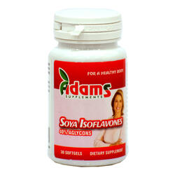 Izoflavone Din Soia 100mg 30cps ADAMS VISION