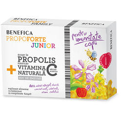 Propoforte Junior Propolis Si Vitamina C 15cpr