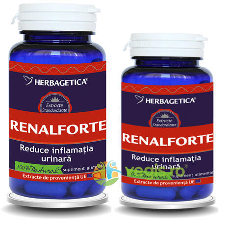 Pachet Renal Forte 60cps+30cps Promo HERBAGETICA