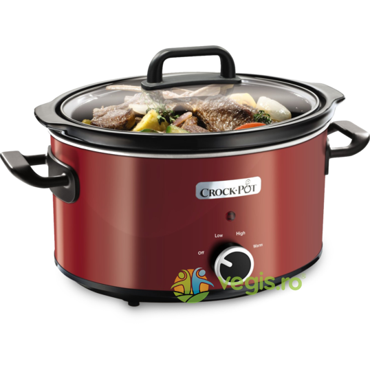 Aparat de gatit Crock Pot slow cooker 3.5 L, rosu Crock-Pot