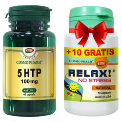 5 HTP 100MG 60CPS + RELAX! 20CPS GRATIS COSMOPHARM