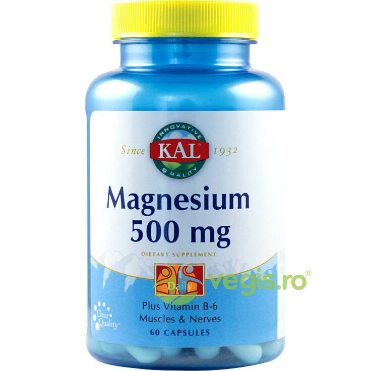Magnesium 500Mg 60Cps imagine