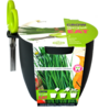 "Kit de Cultivat ""Grow,Cut&Eat"" Chives + Foarfeca - GRI INCHIS Buzzy Seeds"