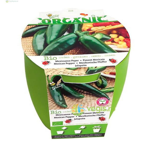 Kit Cultivare Ardei Mexican Jalapeno Ecologic/Bio Buzzy Seeds