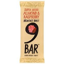Baton Migdale&Zmeura Breakfast Boost 50g 9BAR