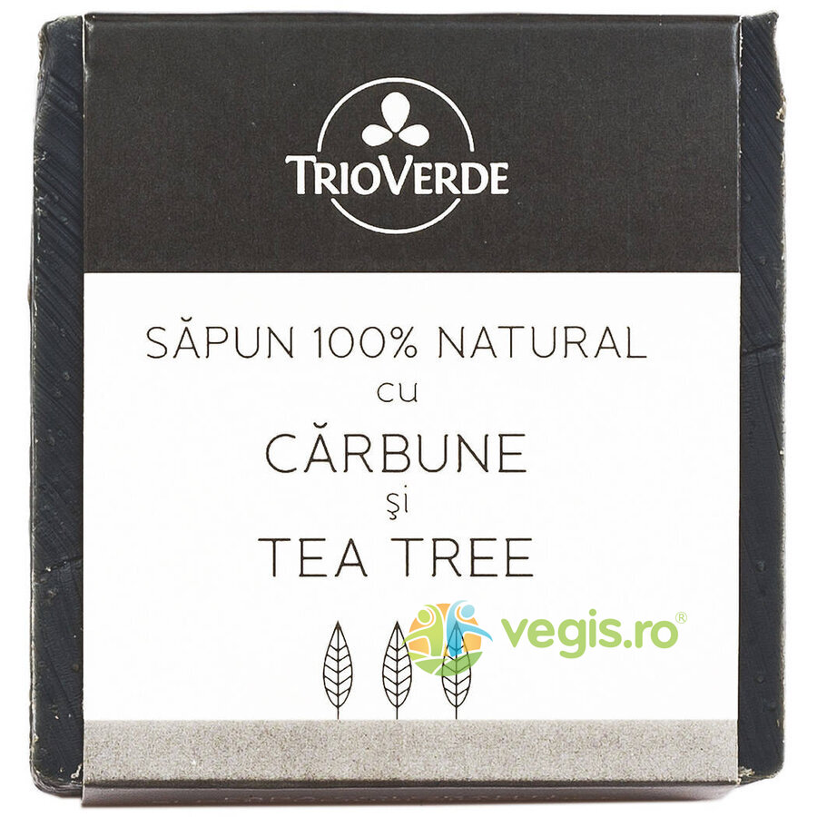 TRIO VERDE Sapun Natural Cu Carbune Si Tea Tree 110Gr