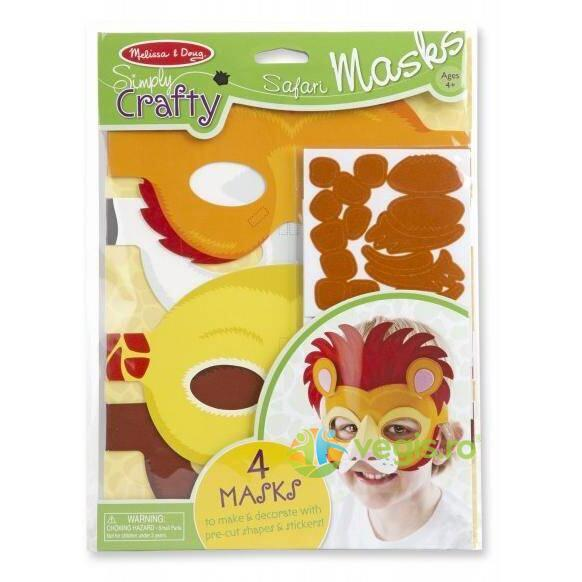 Set de creatie Masti Safari 4 ani+ Melissa and Doug