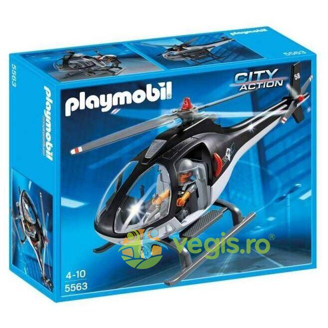 playmobil - elicopterul fortelor speciale 4-10 ani