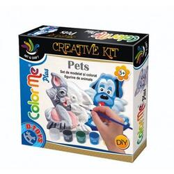 Color me plus - Set de modelat si colorat figurine de animale de companie D TOYS