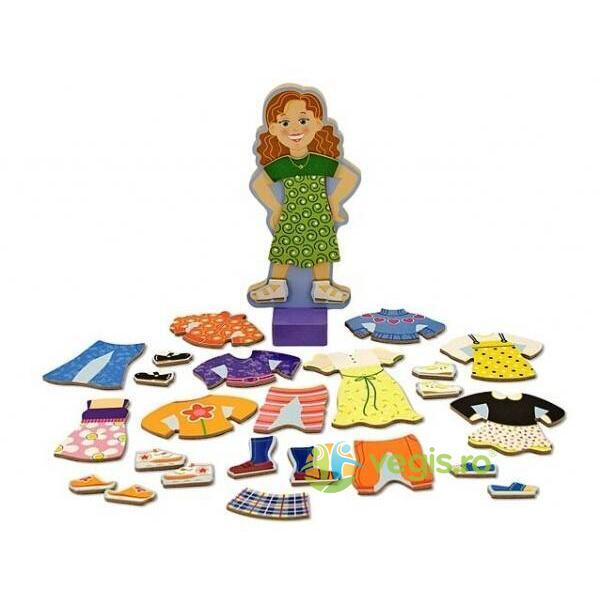 Set magnetic Sa o imbracam pe Maggie Leigh Melissa and Doug