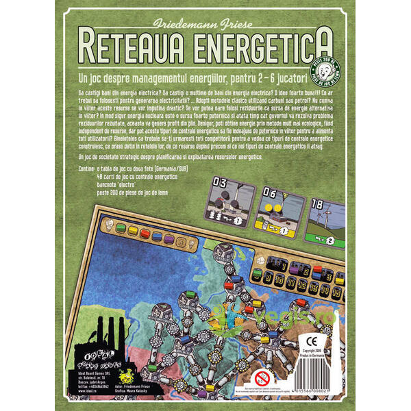 Reteaua Energetica - Ext. Rusia Japonia IDEAL BOARD GAMES