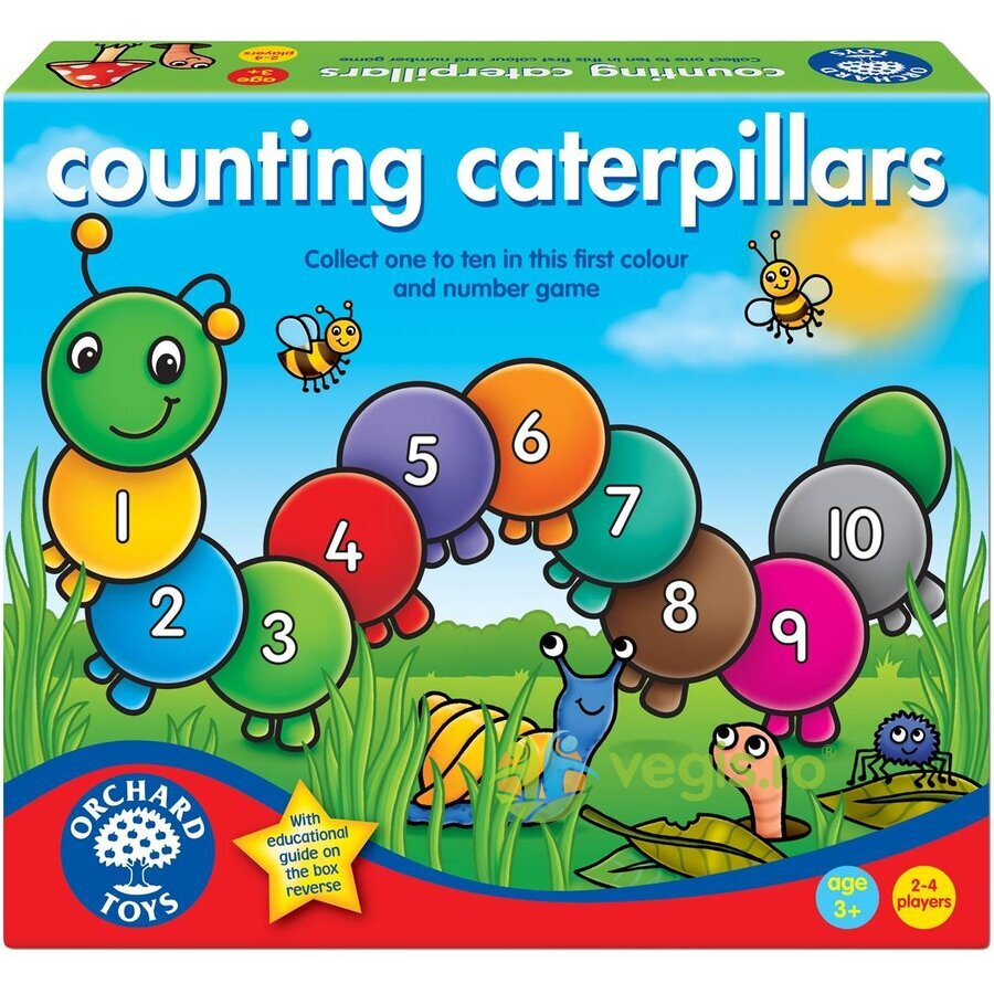 joc educativ omida - counting caterpillars