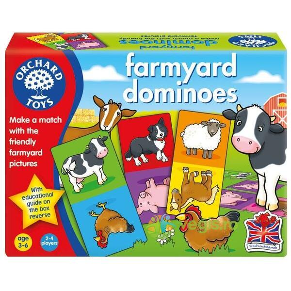 Joc educativ domino Ferma - Farmyard Dominoes ORCHARD TOYS