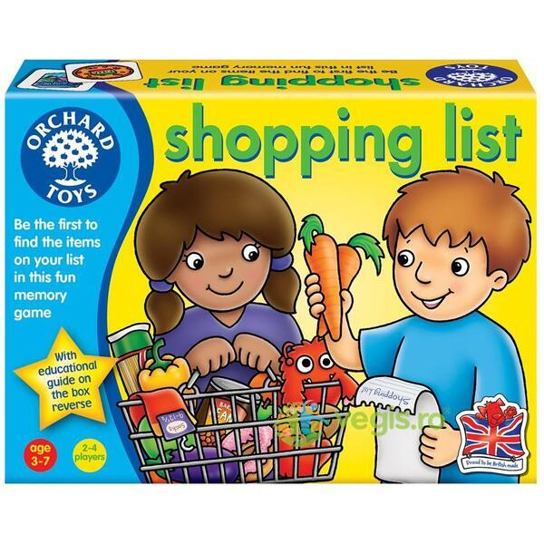 Joc educativ engleza Lista de cumparaturi - Shopping List ORCHARD TOYS