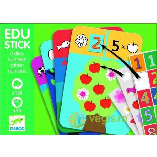 Edu-Stick Djeco stickere educative cu numere