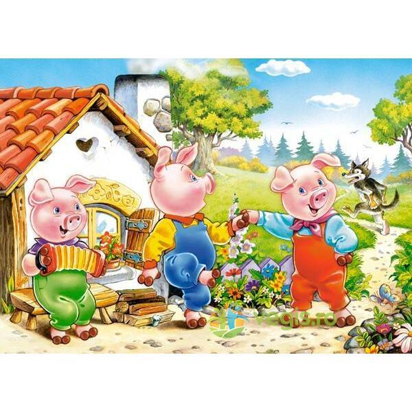 Puzzle 70 Castorland - Three little pigs