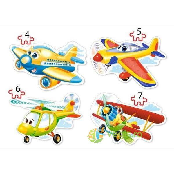 Puzzle 4 in 1 Castorland - Funny Planes