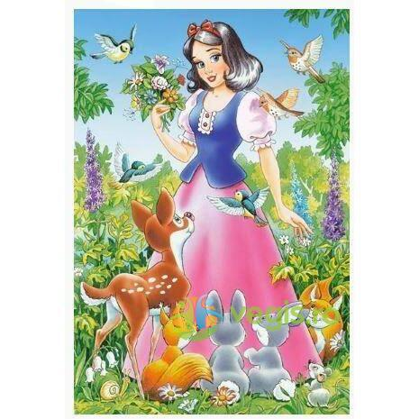 Puzzle 4 in 1 Castorland - Snow White and the Seven Dwarfs