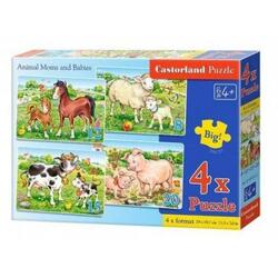 Puzzle 4 in 1 Castorland - Animal Moms and Babies