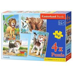 Puzzle 4 in 1 Castorland - Animals
