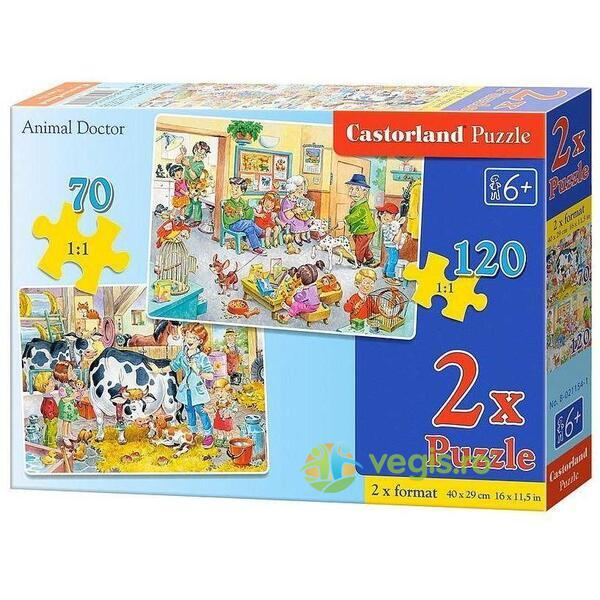 Puzzle 2 in 1 Castorland - Animal Doctor