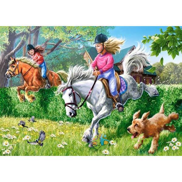Puzzle 2 in 1 Castorland - Horse Riding