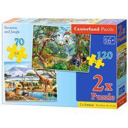 Puzzle 2 in 1 Castorland - Savanna and Jungle