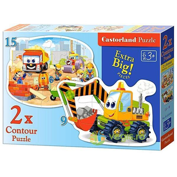 Puzzle 2 in 1 Castorland - Construction Works